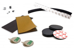 What are self-adhesive magnets used for?