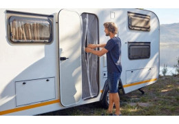 How to make a magnetic mosquito net for car or caravan windows?